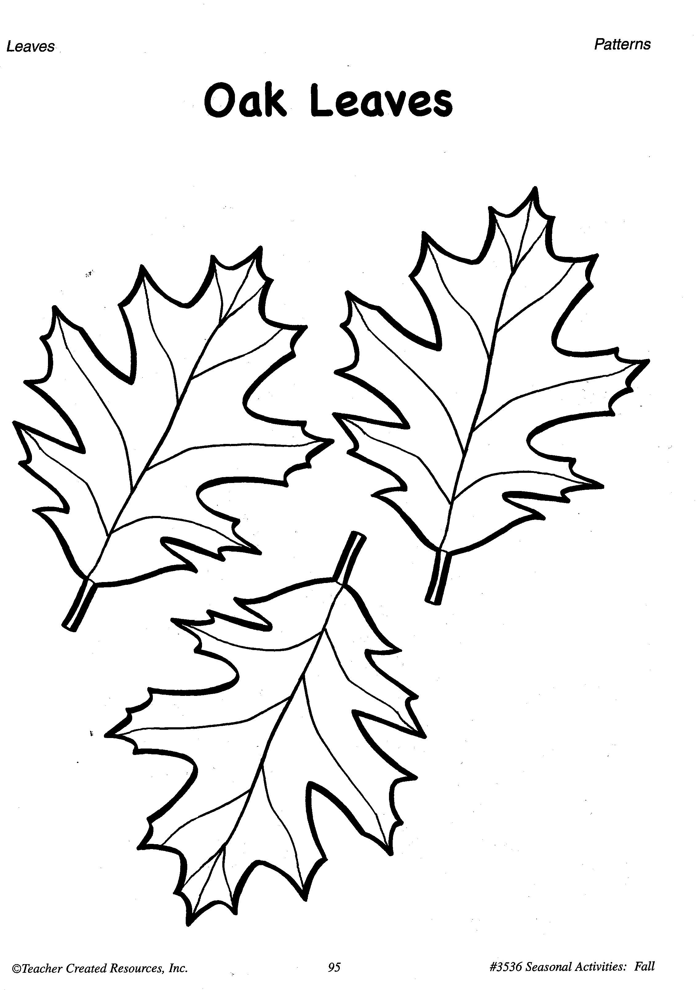 Printable Fall Leaves Patterns A Sample From The Teacher Resource Book Seasonal Activities Fall