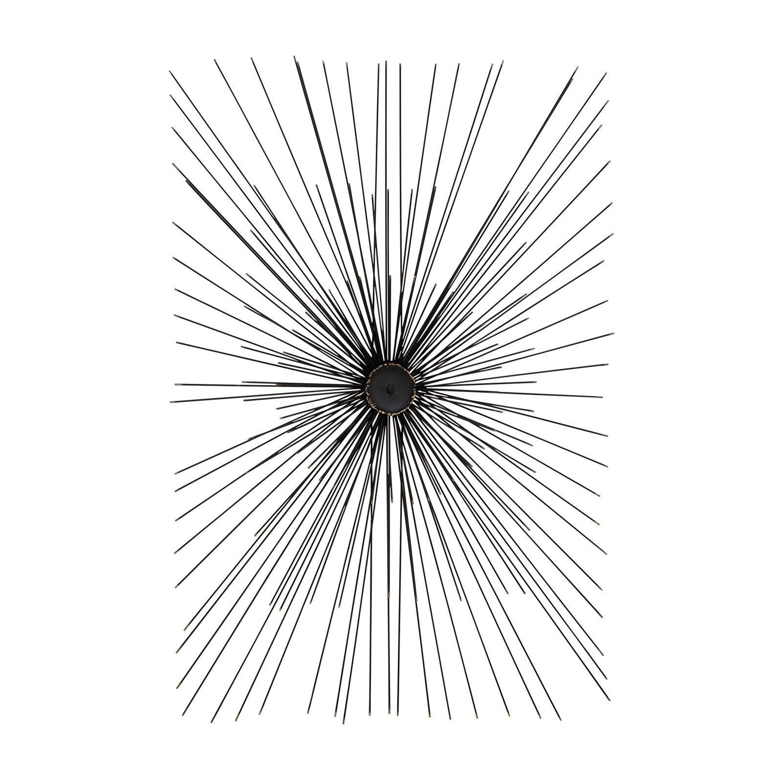 Wiring decmode rectangular radial spiked metal wire wall sculpture 22w x