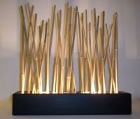 Bamboo mood lamp - Modern Japanese style tabletop LED ...