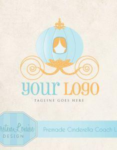 Premade cinderella coach logo princess by kirstenlouisedesign logodesign cinderellalogo cinderellacarriage also rh nz pinterest