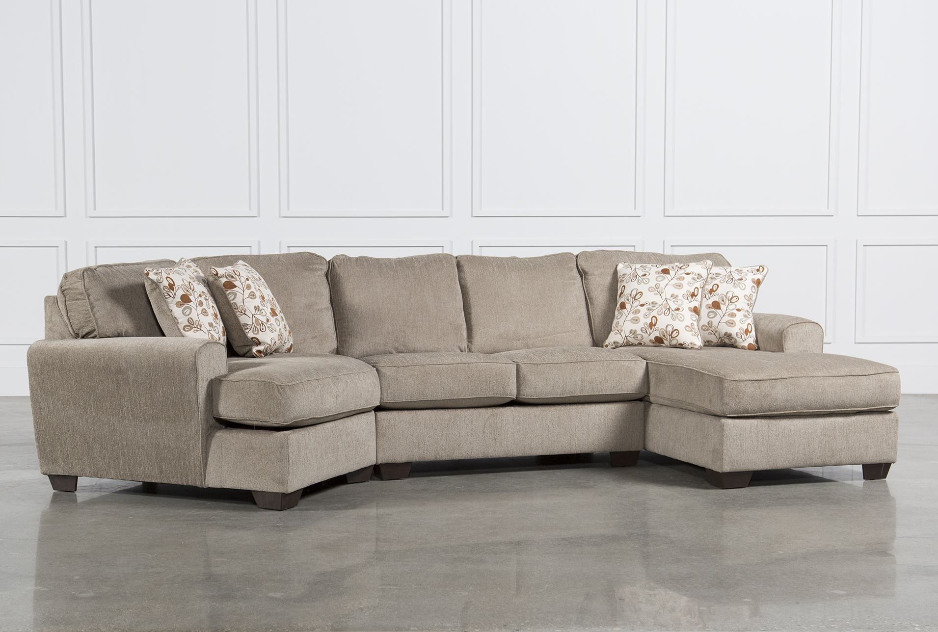 sofa with cuddler and chaise sleeper queen bed patola park 3 piece sectional w raf cornr