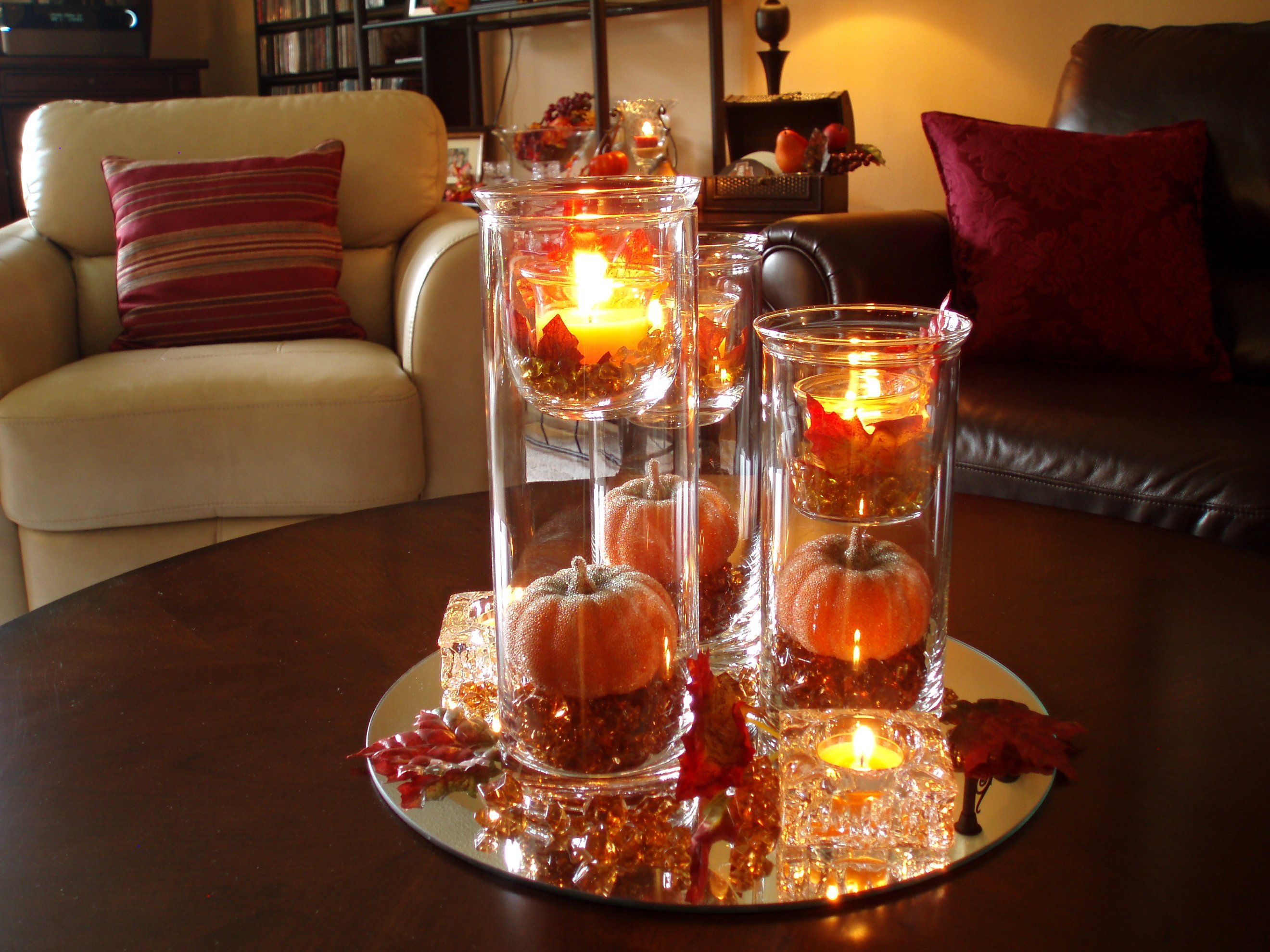 Chic Small Coffee Table Decorations Design With Red Rose Flower
