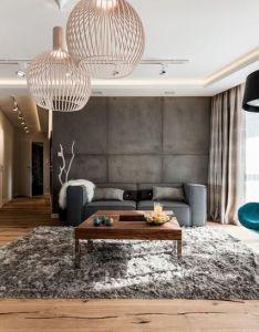 Mieszkanie  gda sku redni salon styl nowoczesny zdj cie od arte dizain also  beton na cianie pokoje dzienne pinterest rh