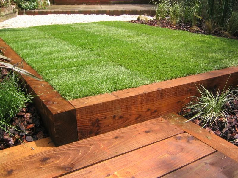 Garden With Railway Sleepers Aralsa Com