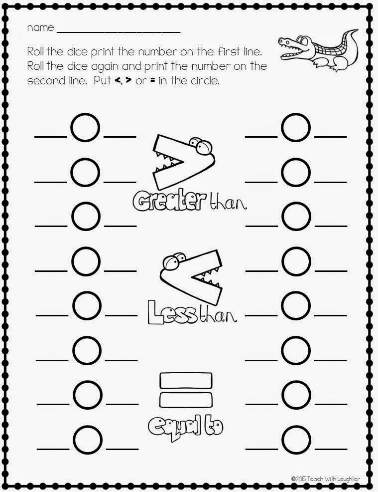 Free greater than or less than worksheets