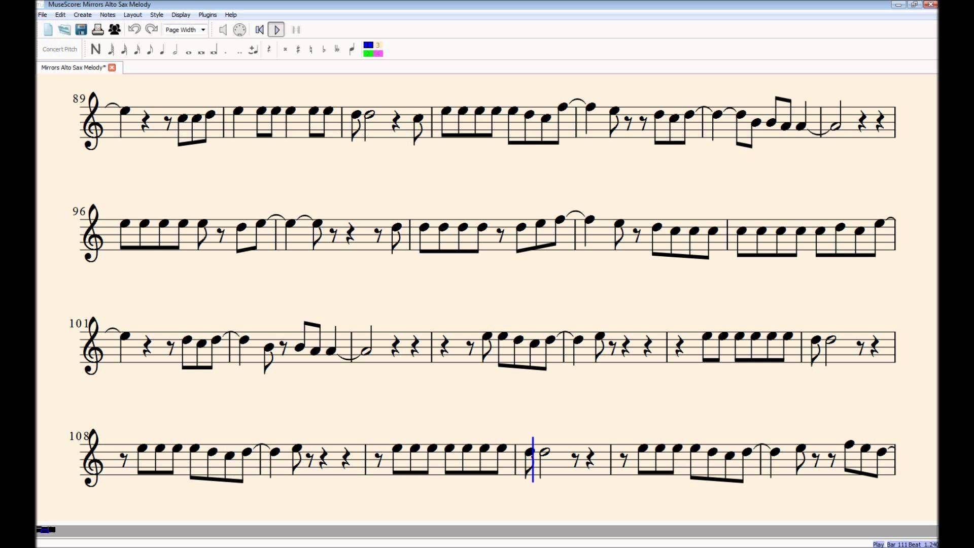 Alto Saxophone Sheet Music Free Radioactive