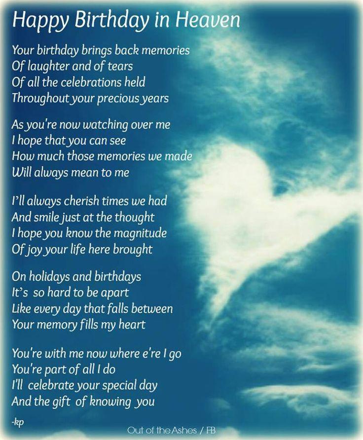 Heaven Sister Birthday Quotes