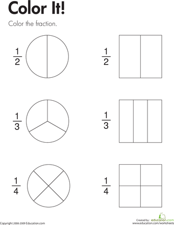 All Worksheets » Fractions Of Collections Worksheets