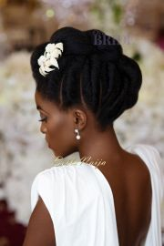 dionne smith natural hair bride