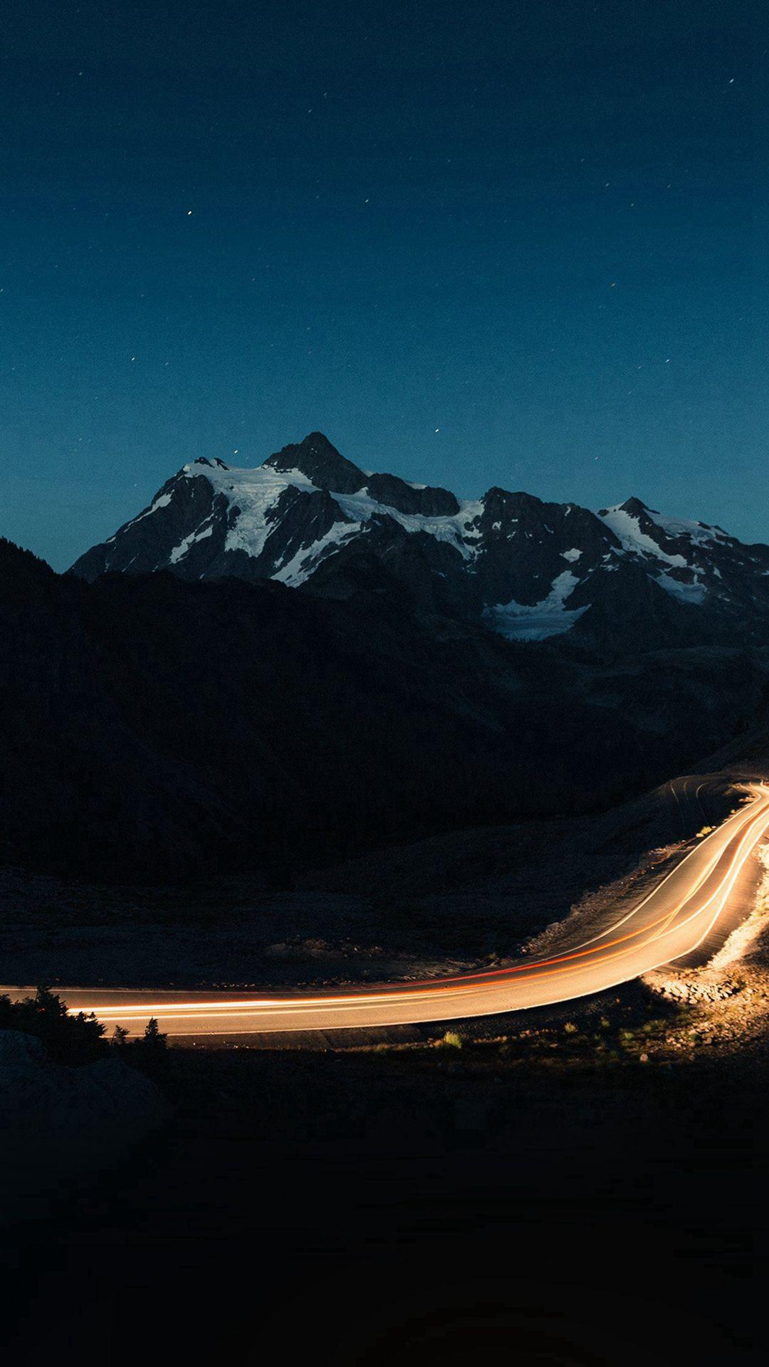 night mountain road street light #iphone #6 #wallpaper | iphone 6