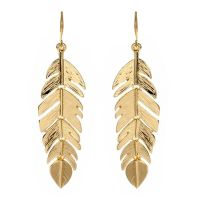 Amrita Singh | Gold Leaf Earring - Fashion Jewelry ...