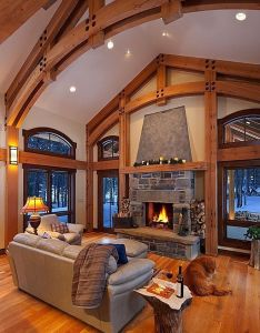 Rustic great room decorating also homes inside outside pinterest house rh za