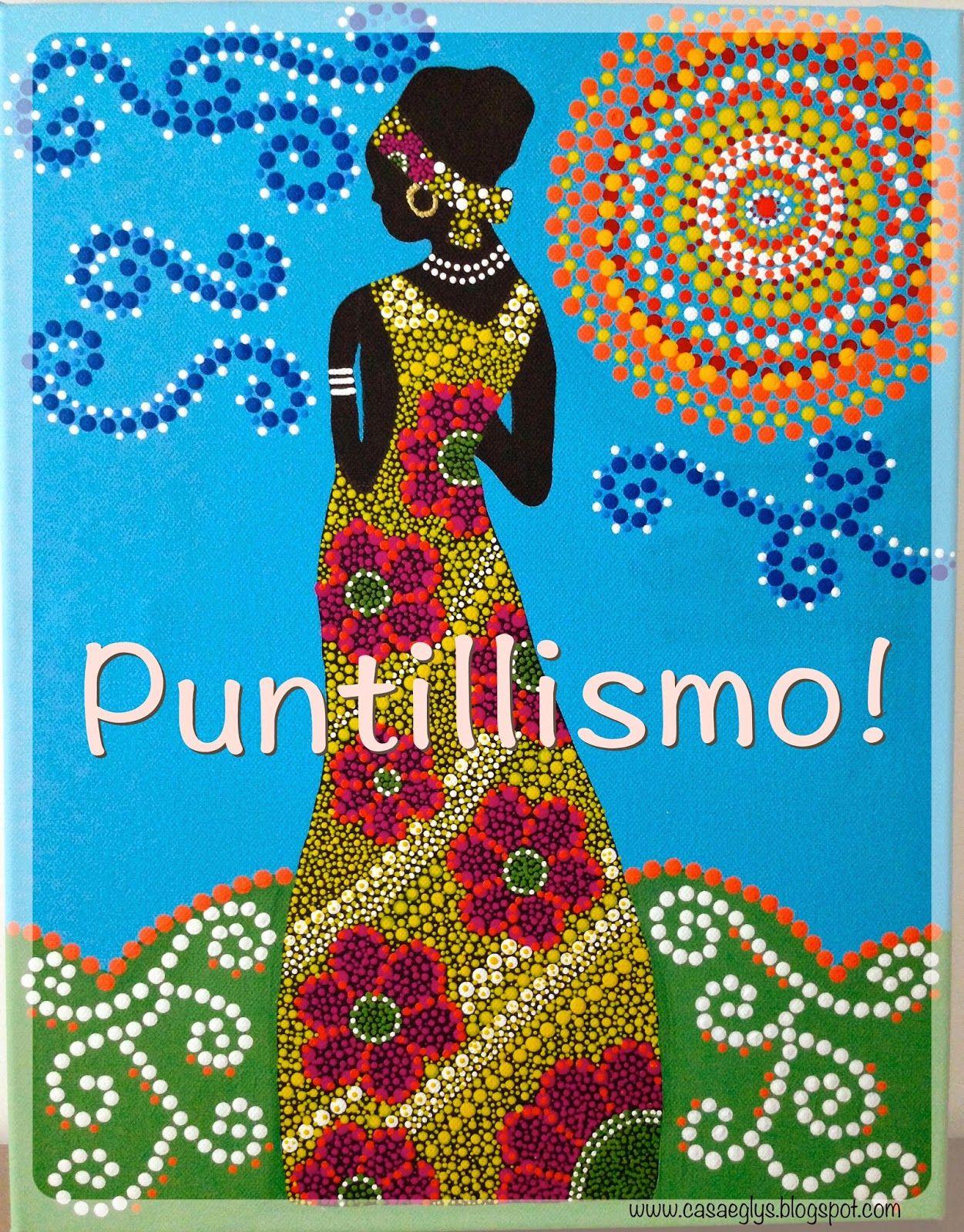 Casa Eglys DIY Cuadro en Puntillismo  PUNTILLISMO  Pinterest  Puntillismo Cuadro y Anna