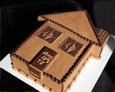 House Cake For Housewarming Party Cakes Pinterest House Cake
