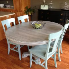 Painted Kitchen Chairs White Cabinets And Backsplash Table Makeover With Annie Sloan Chalk