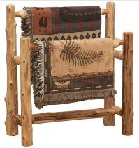 Cedar Log Double Quilt Rack | Cabin decor | Pinterest | Logs