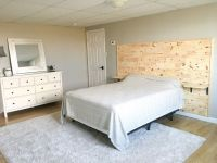 DIY wooden headboard with built in nightstands - wood ...