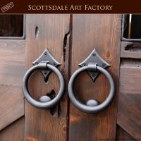 Door Pull Rings - Hand Forged Wrought Iron - HDP55A ...
