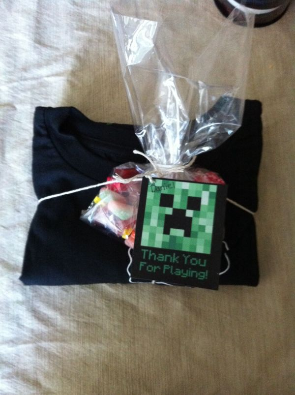 Easy Minecraft Favors -creeper T-shirt Target -candy