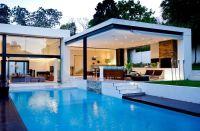 Pool Patio Ideas | ... Bring Modernity : Luxury Flat Roof ...