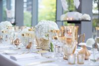 Royal Conservatory of Music wedding table setting white ...