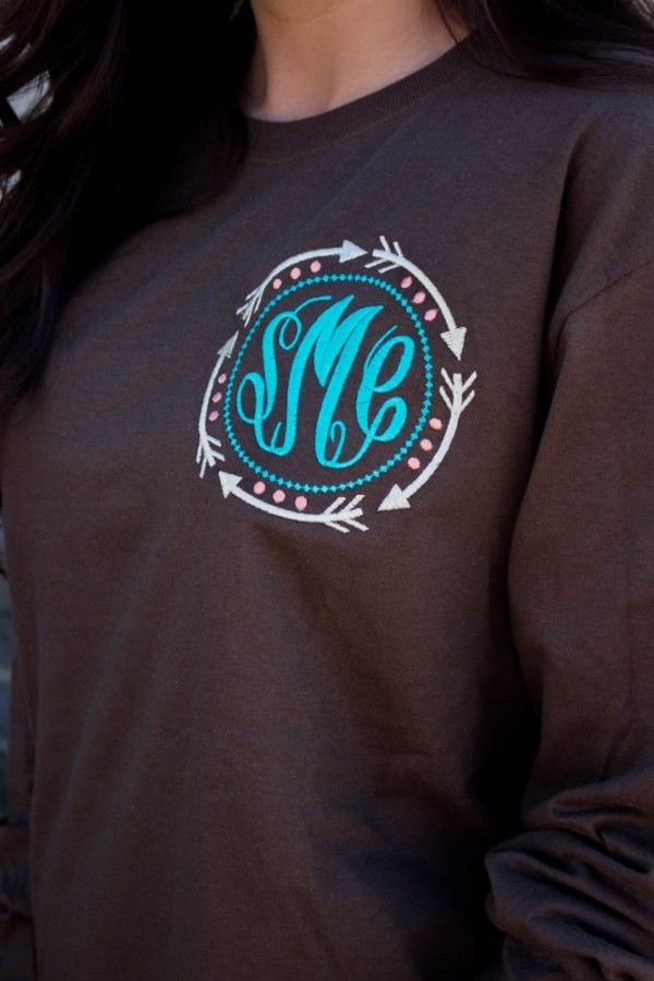 monogrammed long sleeve shirts