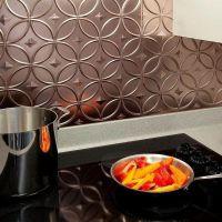 copper backsplash tiles self adhesive kitchen backsplash ...
