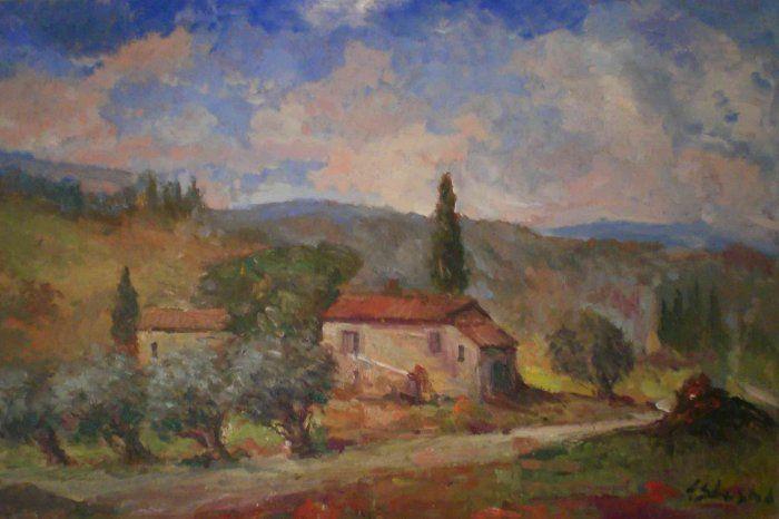 Quadri paesaggi campagne toscane filari dipinti ad olio e disegni  paintings  Pinterest