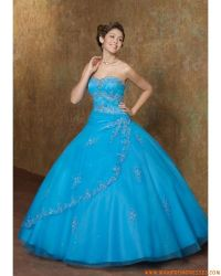 really poofy prom dresses | Blue Puffy Quinceanera Dresses ...