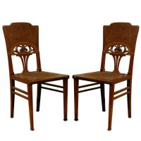 Set of 6 French Art Nouveau Dining Chairs | French art ...