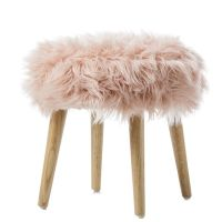 In a fluffy faux fur design, the Kingston stools from ...