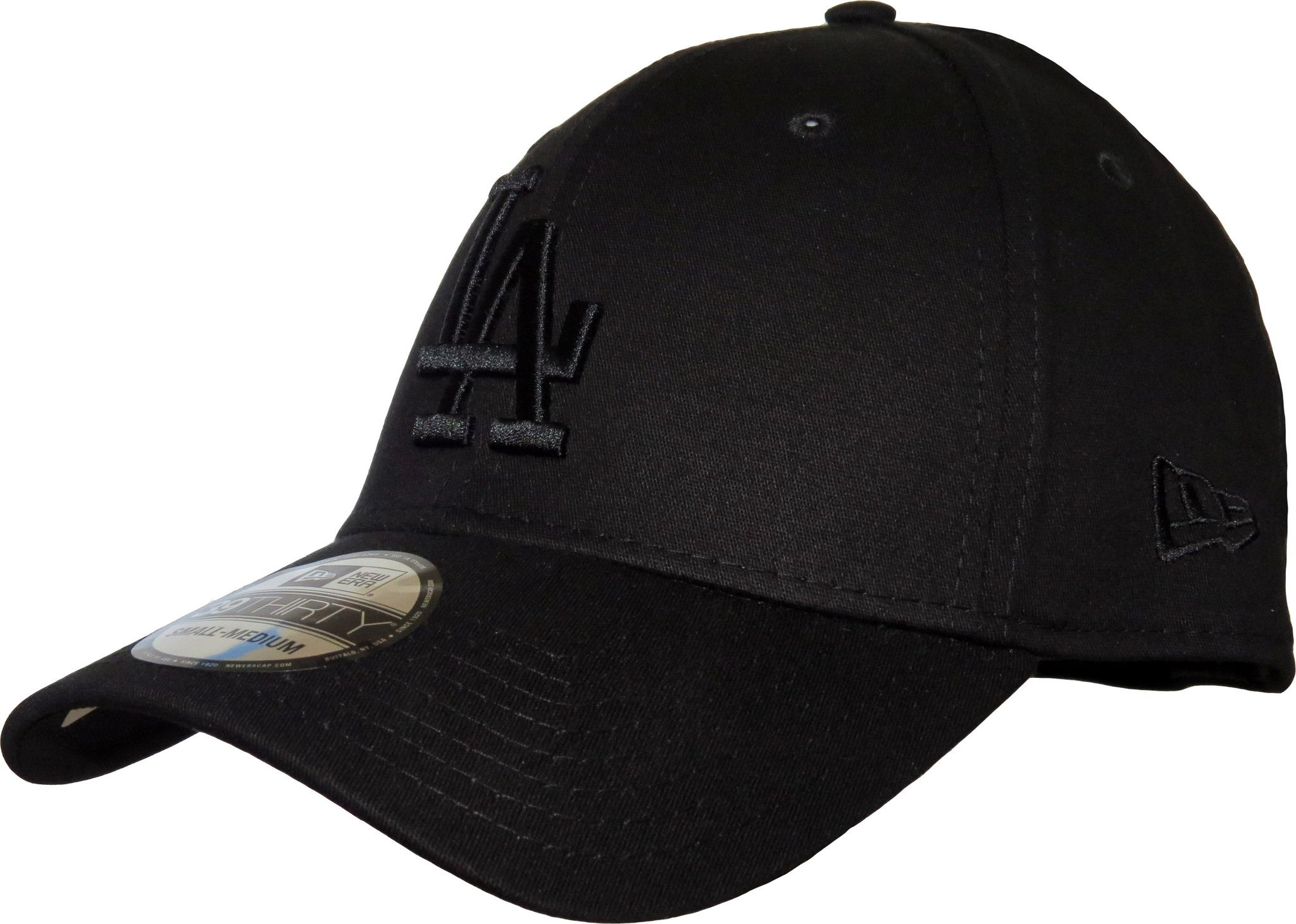 new era thirty los angeles dodgers league essential baseball cap black with black la