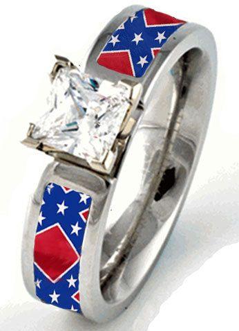 Rebel Flag Engagement Or Wedding Ring  Wedding, Wedding