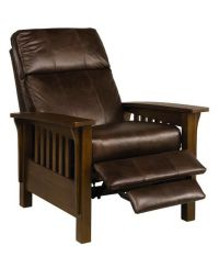 """Nicolas II Mission Style Leather Recliner Chair, 33""""W x 40 ..."""