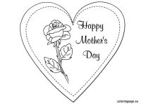 Printable Mothers Day Card to Color   Mother's Day ...