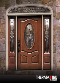Therma-Tru Classic-Craft Mahogany Collection fiberglass ...