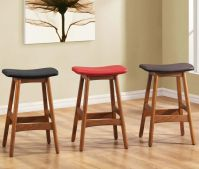 Inimitable Wood Counter Stools Backless With Leather Seat ...