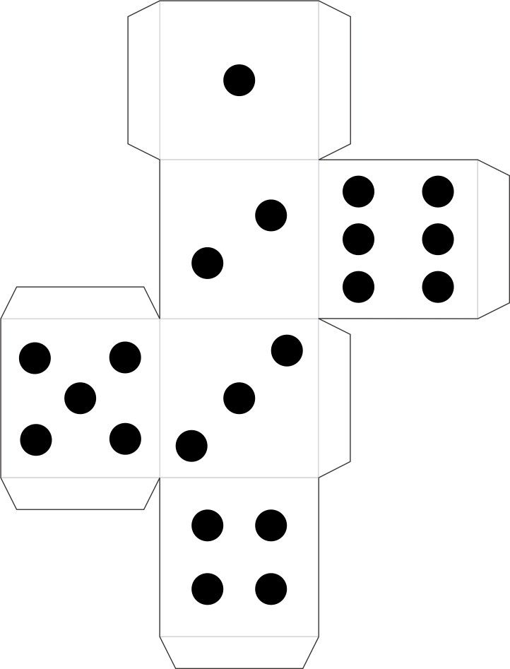 MakingFriends Printable Dice for Detective Badge and other