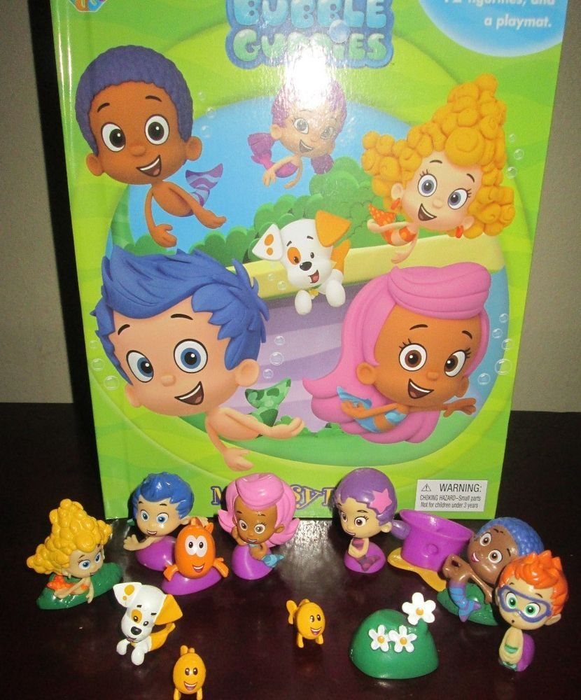 new bubble guppies book playset and toy pvc figures lot deluxe