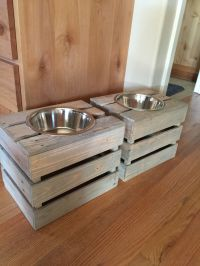 Dog dish holders made from pallet crates. | PALETY ...
