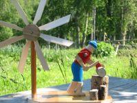 Wood Chopper Windmill | Windmill, Choppers and Yard ...
