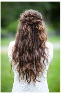Half Up Half Down Wedding Hairstyles Curly Hair | Prom ...