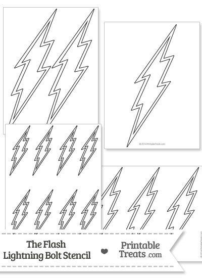 The Flash Lightning Bolt Stencil from PrintableTreats.com