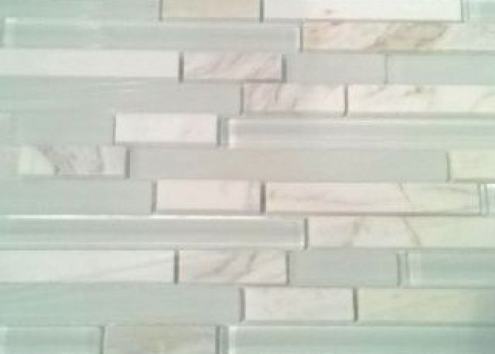 Mosaic marble and glass tile also kitchen pinterest mosaics