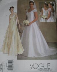 Vogue 2788 Wedding Dress Sewing Pattern Full Figure Plus ...