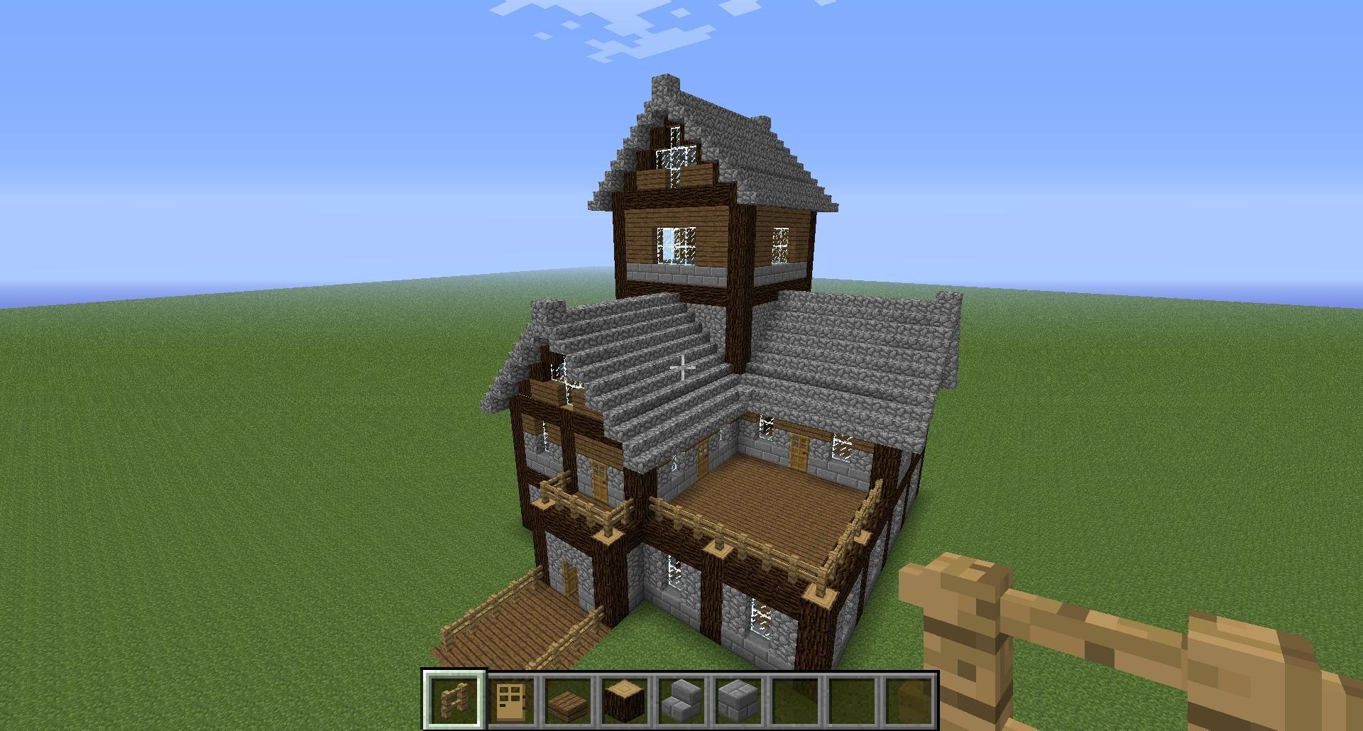 Beautiful Medieval House Tutorial! Creative Mode Minecraft