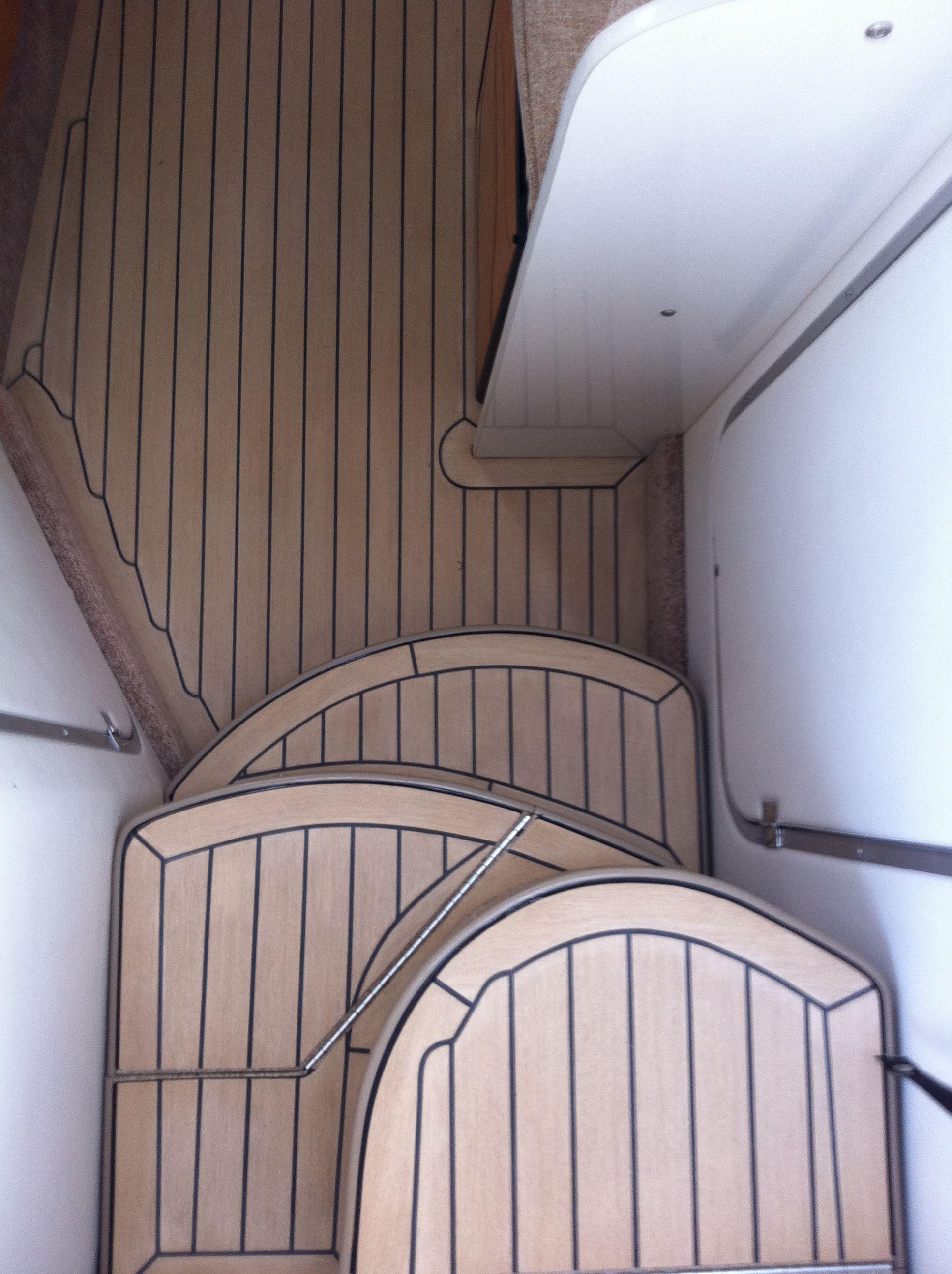 composite boat floor replacement material  Interior Boat