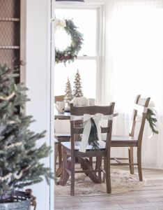 Step inside this beautiful farmhouse and discover  winter wonderland themed kitchen decorated for christmas with also rh pinterest