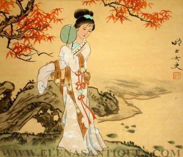 Old Japanese Silk Paintings