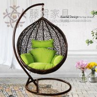 Casual rattan furniture rattan rocking chair bird nest